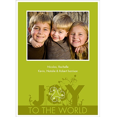 Sprouting Joy Recycled Photo Holiday Card