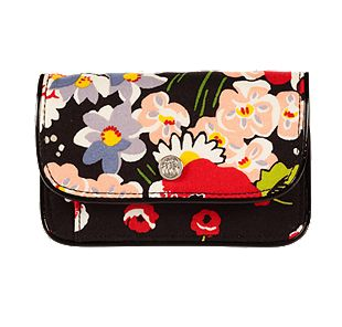 Vera Bradley Quickstep Wallet in Poppy Fields