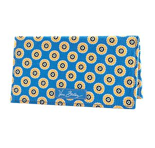 Vera Bradley Checkbook Cover in Riviera Blue