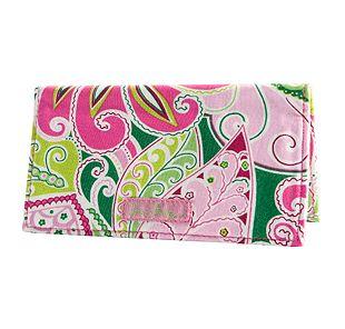 Vera Bradley Checkbook Cover in Pinwheel Pink