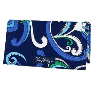 Vera Bradley Checkbook Cover in Mediterranean Blue