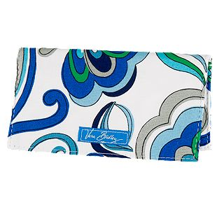 Vera Bradley Checkbook Cover in Mediterranean White
