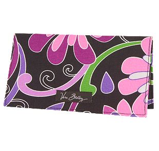 Vera Bradley Checkbook Cover in Purple Punch
