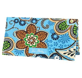 Vera Bradley Checkbook Cover in Bali Blue