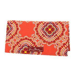 Vera Bradley Checkbook Cover in Paprika