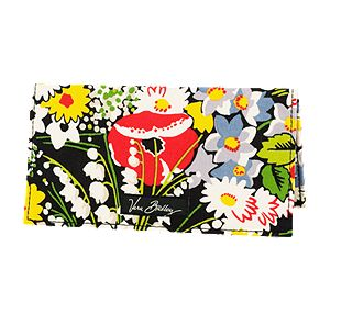 Vera Bradley Checkbook Cover in Poppy Fields