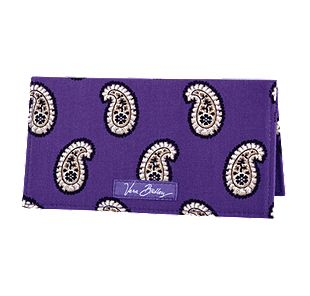Vera Bradley Checkbook Cover in Simply Violet