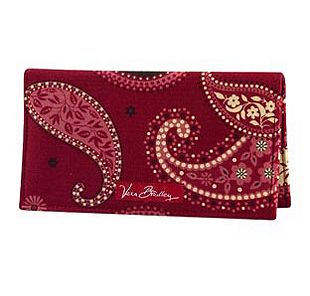 Vera Bradley Checkbook Cover in Mesa Red