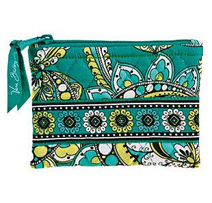 Vera Bradley Coin Purse in Peacock
