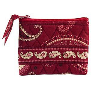 Vera Bradley Coin Purse in Mesa Red
