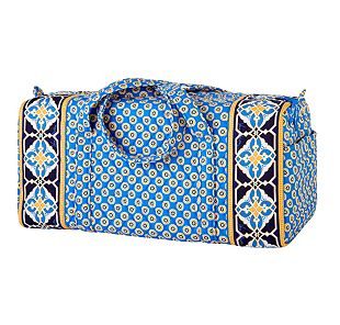 Vera Bradley Small Duffel in Riviera Blue