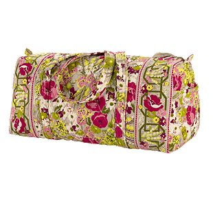 Vera Bradley Small Duffel in Make Me Blush