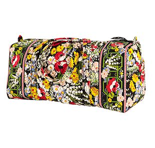 Vera Bradley Small Duffel in Poppy Fields