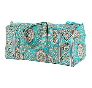 Vera Bradley Small Duffel in Totally Turq