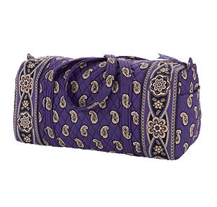 Vera Bradley Small Duffel in Simply Violet