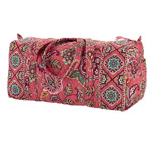 Vera Bradley Small Duffel in Call Me Coral