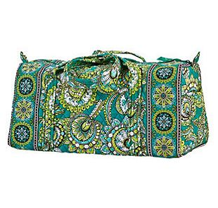 Vera Bradley Small Duffel in Peacock