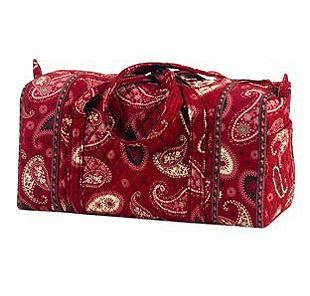 Vera Bradley Small Duffel in Mesa Red