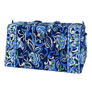 Vera Bradley Large Duffel in Mediterranean Blue