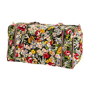 Vera Bradley Large Duffel in Poppy Fields