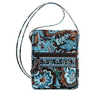 Vera Bradley Mini Hipster in Java Blue