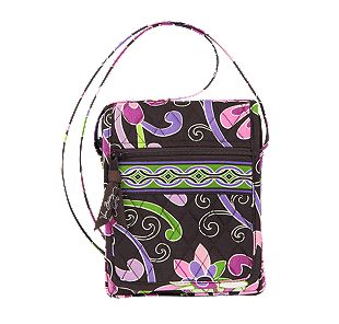 Vera Bradley Mini Hipster in Purple Punch
