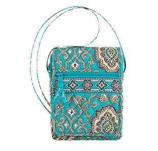 Vera Bradley Mini Hipster in Totally Turq