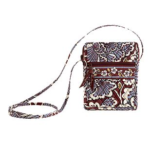 Vera Bradley Mini Hipster in Slate Blooms