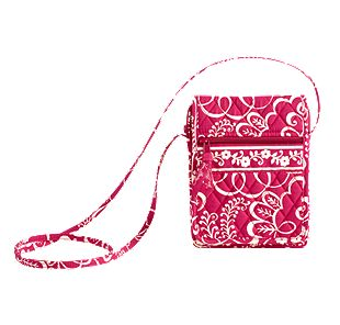 Vera Bradley Mini Hipster in Twirly Birds Pink