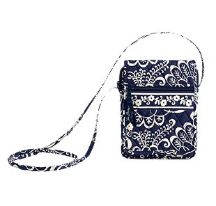 Vera Bradley Mini Hipster in Twirly Birds Navy