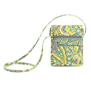 Vera Bradley Mini Hipster in Lemon Parfait