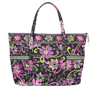 Vera Bradley Super Tote in Purple Punch