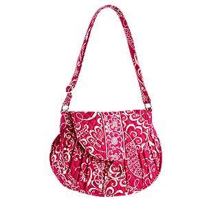 Vera Bradley Saddle Up in Twirly Birds Pink