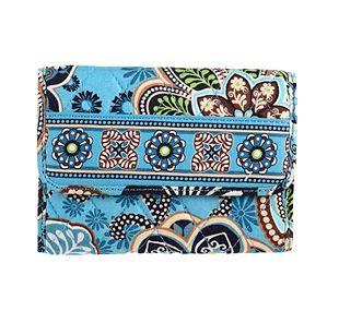 Vera Bradley Euro Wallet in Bali Blue