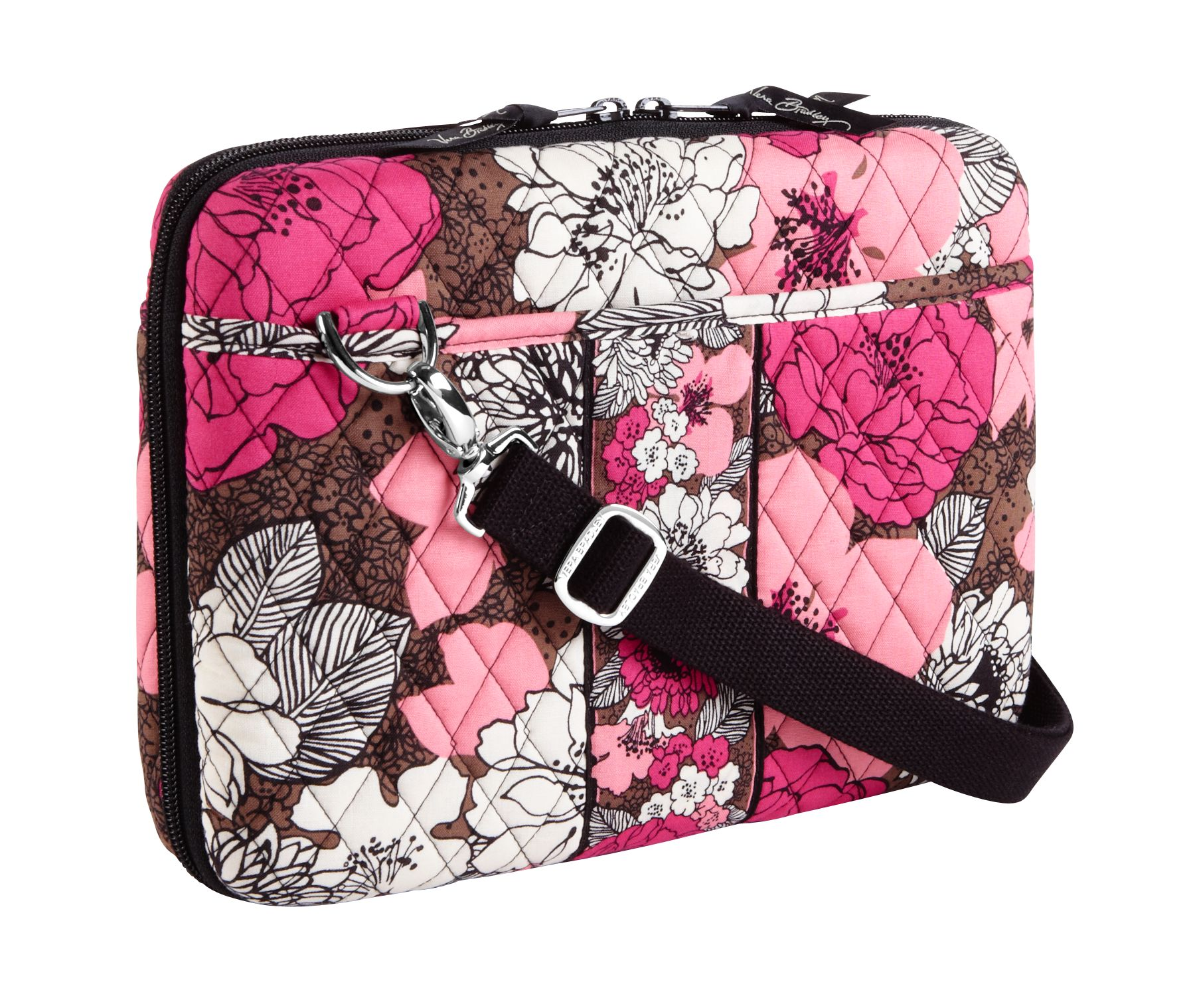 Vera Bradley Mini Laptop Case in Mocha Rouge