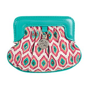 Vera Bradley Charmed Pouch in Call Me Coral