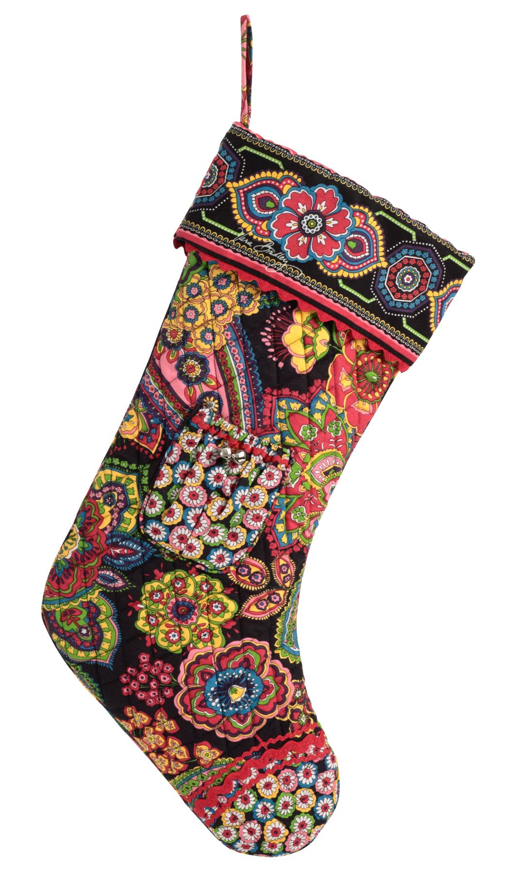 Vera Bradley Christmas Stocking in Symphony in Hue