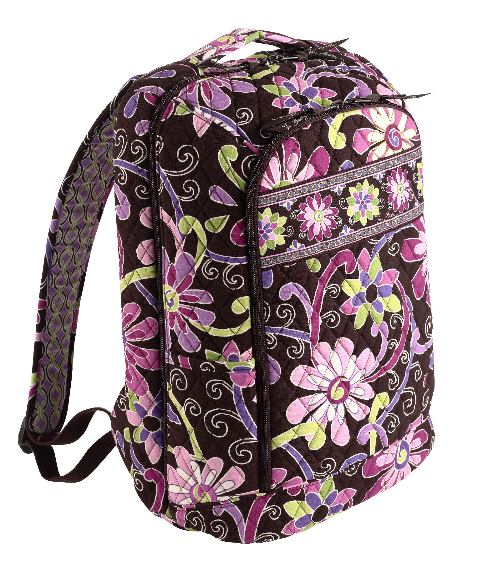 Vera Bradley Laptop Backpack in Purple Punch