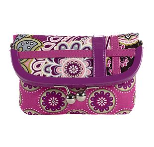 Vera Bradley Please Hold in Very Berry Paisley