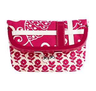 Vera Bradley Please Hold in Twirly Birds Pink