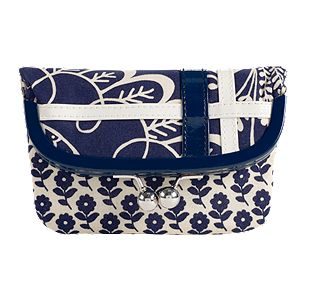 Vera Bradley Please Hold in Twirly Birds Navy
