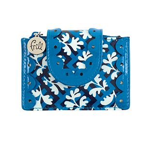 Vera Bradley Pretty and Petite Card Holder in Blue Lagoon