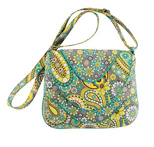 Vera Bradley Crossbody in Lemon Parfait