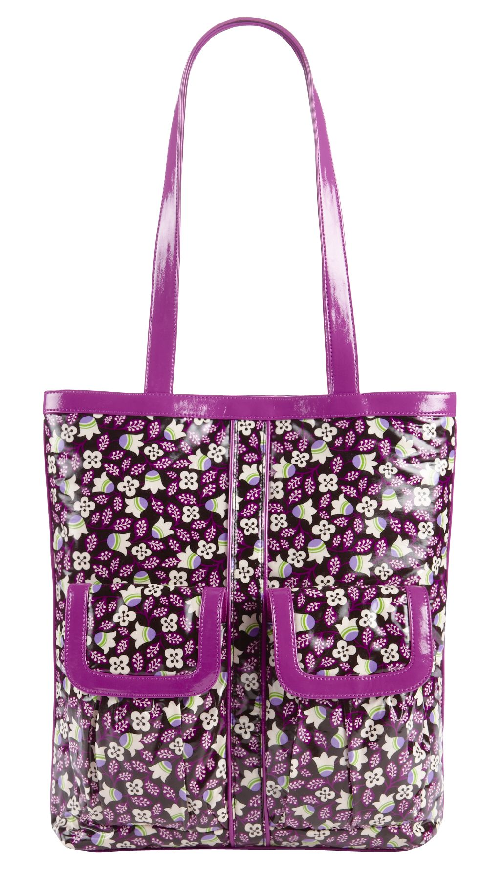 Vera Bradley Teen Idol Tote in Plum Petals