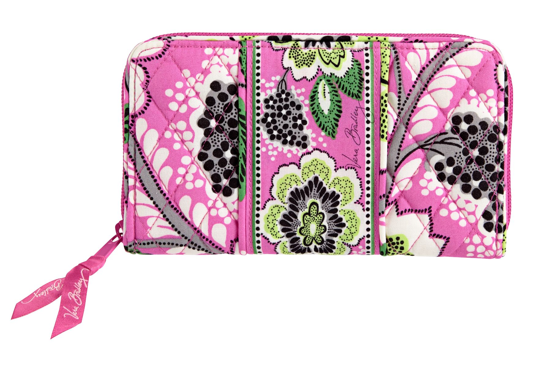 Vera Bradley Accordion Wallet in Priscilla Pink