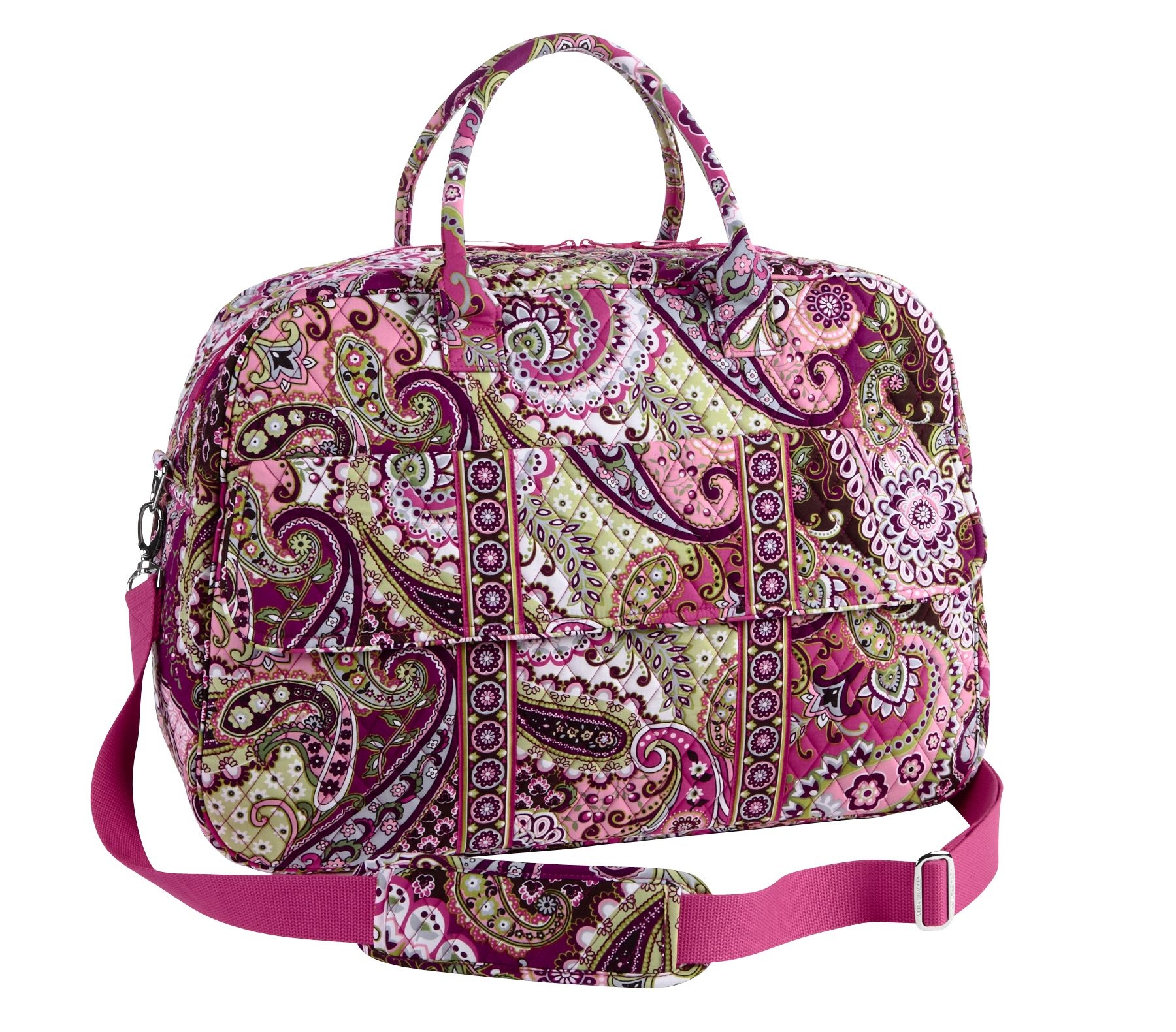Vera Bradley Grand Traveler in Very Berry Paisley