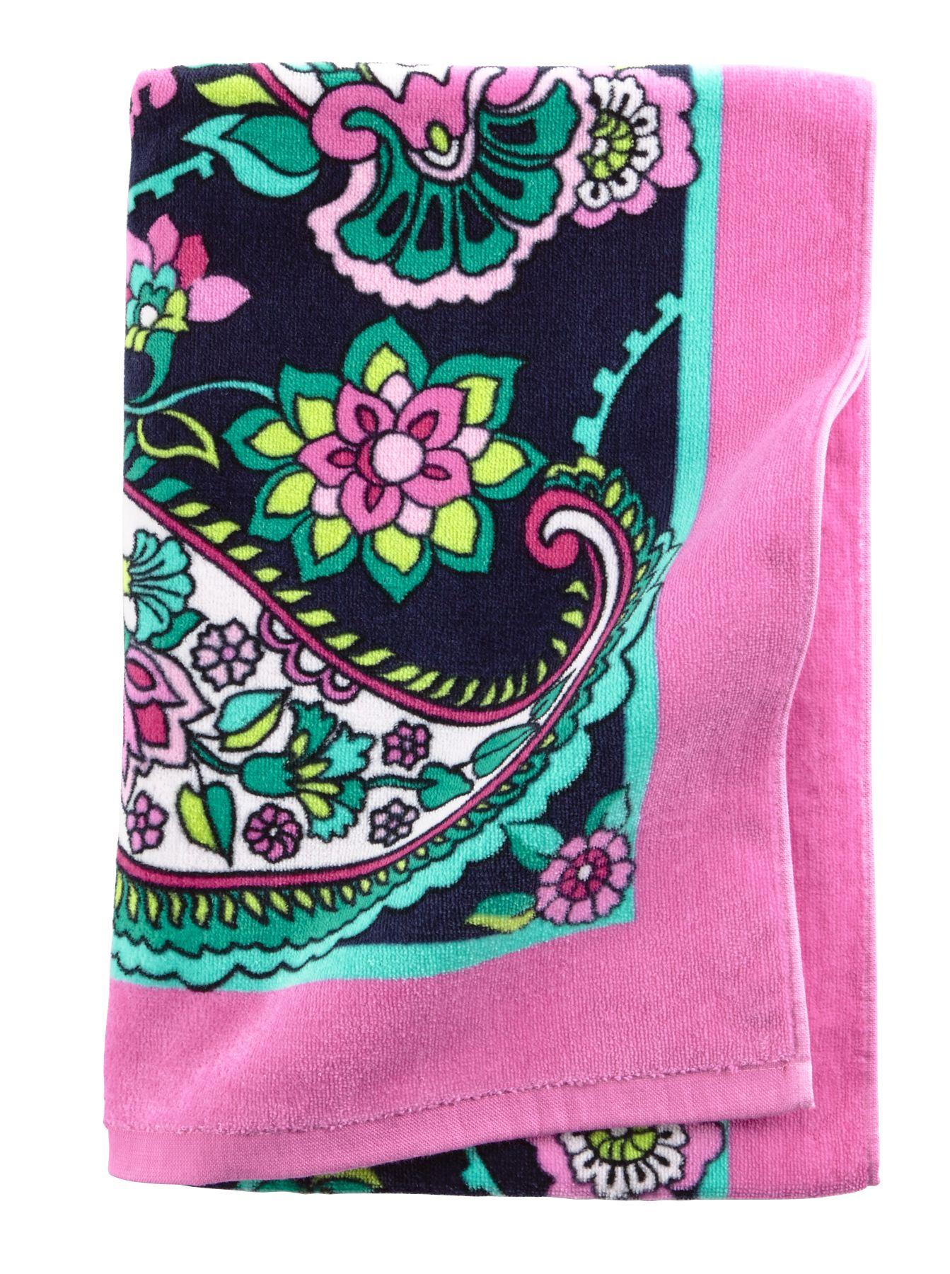 Vera Bradley Beach Towel in Petal Paisley $ 35.00