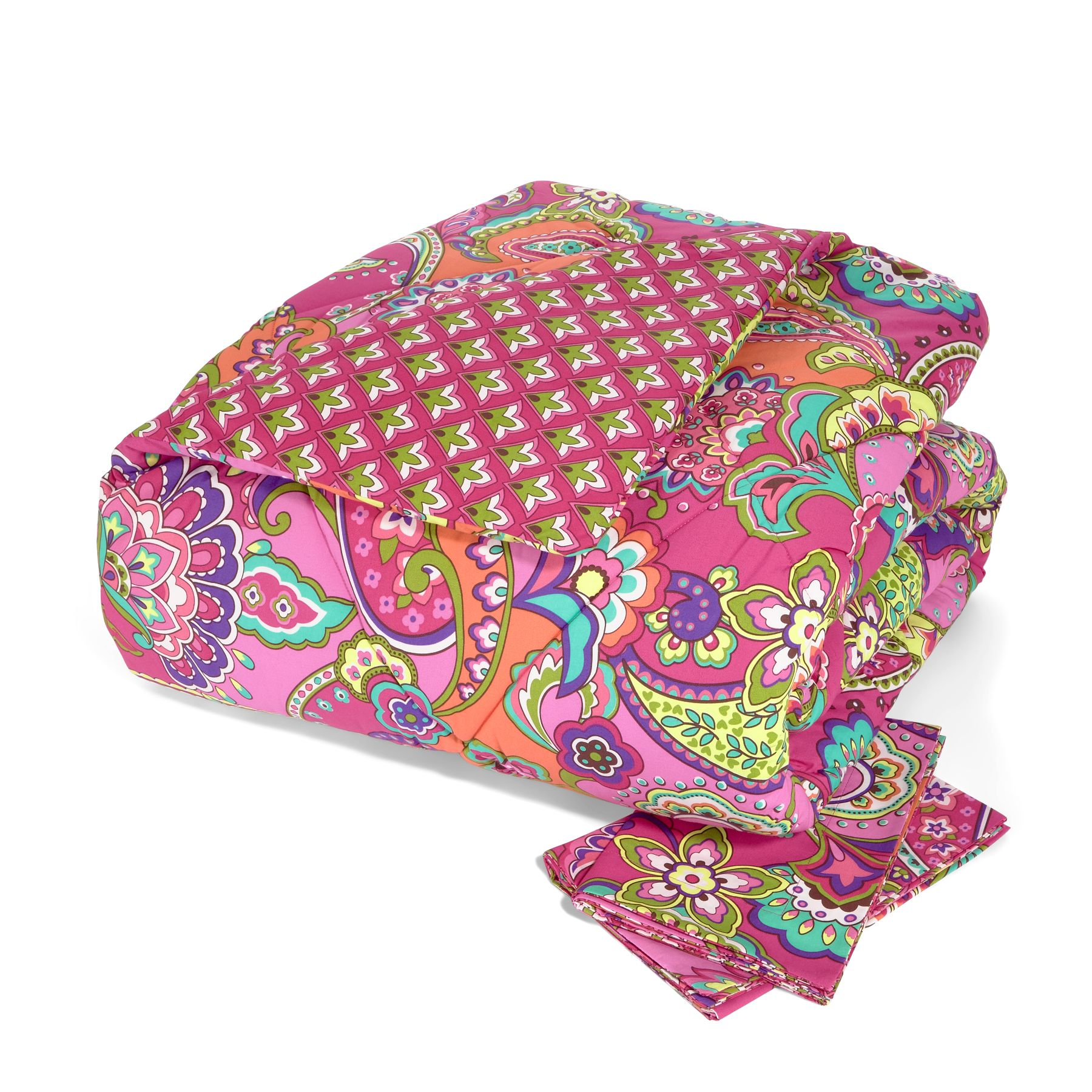 Vera Bradley Reversible Comforter Set Full Queen In Pink