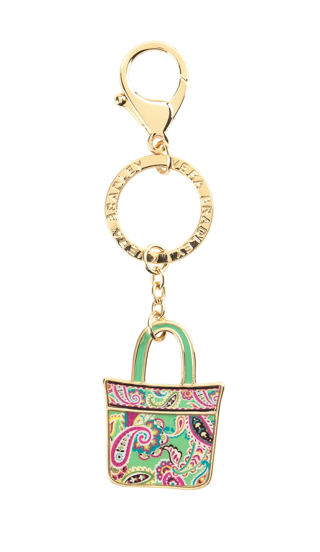Vera Bradley Tote Around Keychain in Tutti Frutti $ 15.40