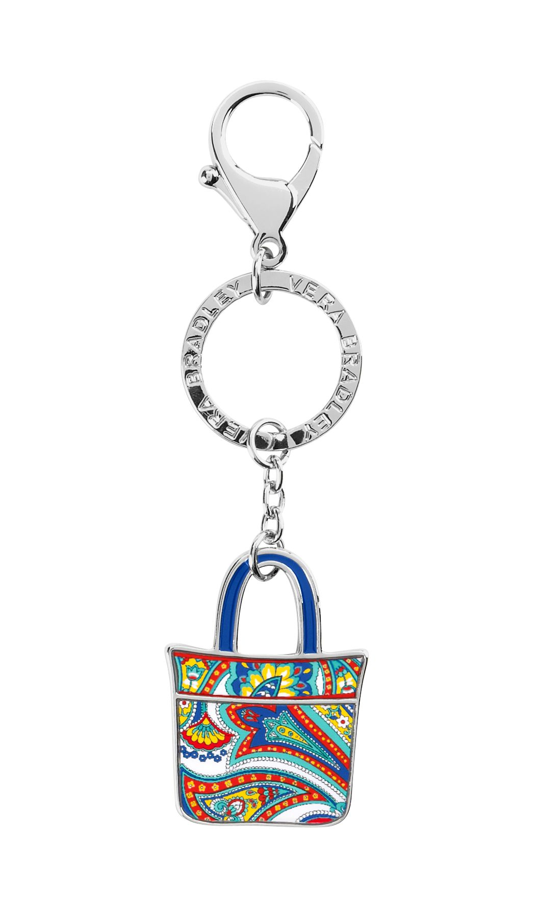 Vera Bradley Tote Around Keychain in Marina Paisley $ 15.40